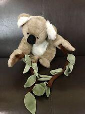 "Folktails Folkmanis 15"" Koala Bear Plush Puppet Eucalyptus Branch Hang Strap"