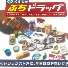Rare 2006 Re-ment Drug Store Part 2 Set of 10 pcs Factory Sealed Box.