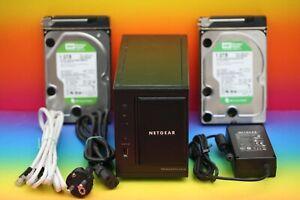 Netgear ReadyNAS Duo RND2000 NAS Server Multimedia Video u. 2x 1TB WD Festplatte