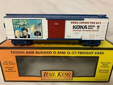 ✅MTH RAILKING KDKA RADIO TV 1960s PITTSBURGH PENNSYLVANIA BOXCAR! O GAUGE TRAIN