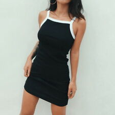 Women Sleeveless Spaghetti Strap Dress Bodycon Sundress Mini Dresses S-2XL DS