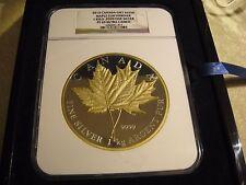 HUGE 1KG Canada 2013 $250 Gilt Maple Leaf (NGC-PF69-UC)(1000g silver)