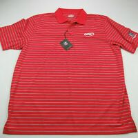 Ahead Extreme Men's Golf Polo Shirt Logo Short Sleeve Stripes NWT XL Red