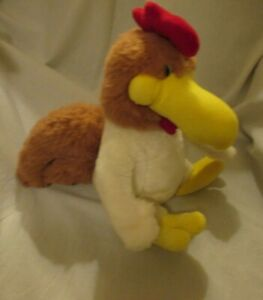 "FOGHORN LEGHORN 1987 PLUSH Rooster STUFFED ANIMAL 13""  MIGHTY STAR Chicken"