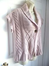 MAX MARA Weekend M Sweater Cashmere Blend PINK Single Button Front Off Shoulder