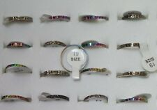10 Fashion Wholesale Jewelry lots Bulk Mixed Color Aluminum Metal Rings