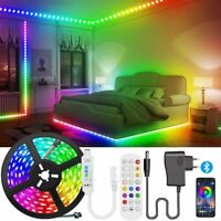 10M 5050 RGB LED STRIP LIGHTS BLUETOOTH MUSIC CONTROLLER 12V ADAPTER Set