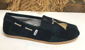 TOMS  Mens Casual  Style 320813 Canvas  Slip On Shoes GREEN SIZE 10.5 M