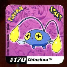 STAKS MAGNET AIMANT POKEMON N° 170 CHINCHOU E