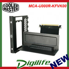 Cooler Master Universal Vertical VGA Card Holder + PCI-E x16 Riser Cable Black