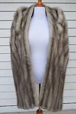 Vintage 1940s Women's Silver Mink Fur Stole Shrug Shoulder Wrap Capelet One Size