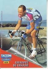 CYCLISME carte cycliste GIUSEPPE DI GRANDE équipe TACCONI SPORT- VINI CALDIROLA