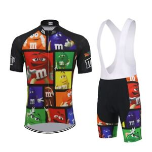 M&M Team Cycling Jersey Bib Short Short Sleeve