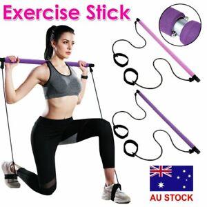 Portable Pilates Stretch Rope Gym Stick Yoga Exercise Bar Pilates Trainer Rope #