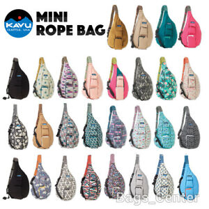 KAVU Mini Rope Bag Cotton Crossbody Sling Purse Backpack