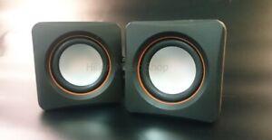 Mini Aktiv Stereo Lautsprecher mit Klinkenstecker und Netzteil. Für Handy,Tablet
