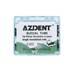 AZDENT Dental 1st Molar Buccal Tube Bondable Non-Conv Roth 022 Orthodontic