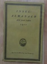 "Vintage German Published Island Almanac ""Insel-almanach auf das jahr 1912"""