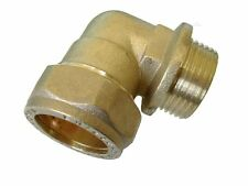 """New Compression male elbow BSP, 10mm x 1/2"""", BRASS, plumbing, DIY, water"""