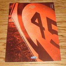 Original 2001 Ford Focus Mustang ZX2 Foldout Sales Brochure 01
