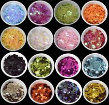31 COLOURS - 400 Round 5MM Loose Sequin Flat Sewing Trim Costume BU1307