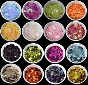 56 COLOURS - 400 Round 5MM Loose Sequins Flat Sewing Crafts Trim Costume 1307