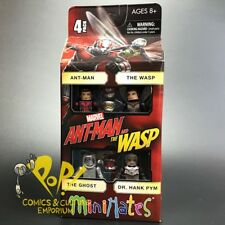 "Marvel ANT-MAN & the WASP Movie Minimates 2"" Action Figure BOX SET Hank GHOST!"