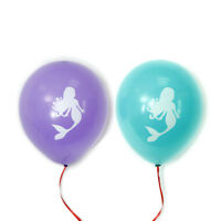 10pcs Mermaid Latex Balloons Birthday Wedding Baby Shower Pool Party Decor  RF