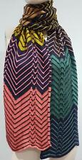M MISSONI Women's Multi Colour Zig Zag Pattern Knitwear Winter Scarf