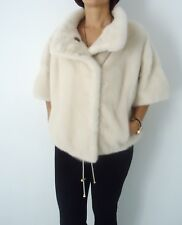 New Saga furs Pearl color mink bolerojacket  can be custom made in your size.