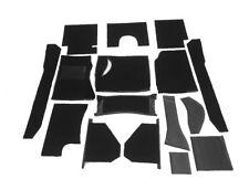Black velours carpet kit for Austin Healey 100-4 BN1  LHD  1953-1955