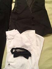 Spring Notion Black White Boys Size 12 Vest Pant 4-Pc Suit Set