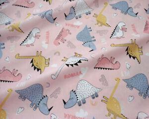 50x160cm Cotton Twill Fabric Print Baby Dinosaur DIY Bed Sheet Cover MK B