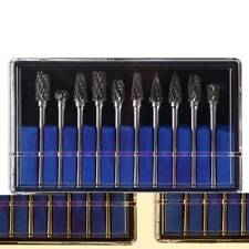 New 10x Tungsten Steel Solid Carbide Burrs Kit For Dremel Rotary Tool Drill Bit