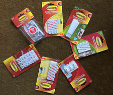 3M Command Strips Large, Medium, Narrow For Damage Free Picture / Poster Hanging