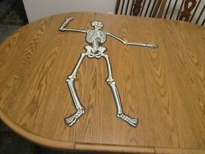 Vintage Beistle  Jointed skeleton Halloween  Decoration 33 inch tall