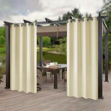 "Privacy Outdoor Waterproof Curtains Panel for Pergola/Patio/Balcony,50x108""Beige"
