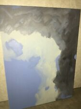 Abstract painting (original) on canvas panel