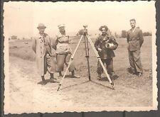 vintage Bulgaria WWII Photo men with Trench Binocular  Periscope