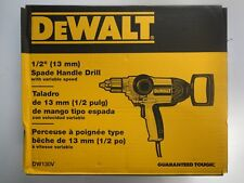 "DEWALT DW130V 1/2"" (13mm) 9 AMP SPADE HANDLE DRILL Variable Speeds NEW NIP"
