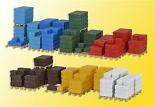 NEW HO Kibri 38662 CRATES ( Various Sizes ) on Pallets : 1/87 KIT