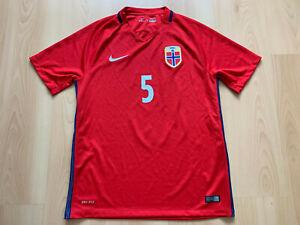 2016 Norwegen Fußball Trikot Norway Football Jersey Soccer Shirt Norge Nike M #5