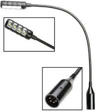 Ultrahelle LED XLR 4 pol Schwanenhals Mixer Mischpult Lampe DJ Flexi Mini Light