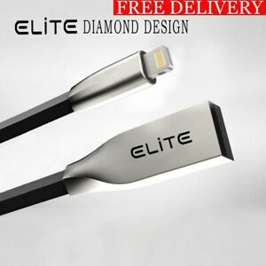 3D Zinc Alloy iPhone USB Charger Cable For iPhone X,8,7,6,5,iPad-Black