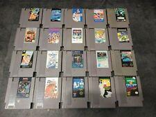 20 Nintendo NES Game Lot  Dr. Mario, TMNT, Rad Racer, Bad Dudes, Top Gun Pinball