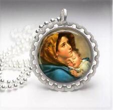 Maria Silver Bottle Cap Necklace 1