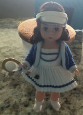 "1997 Madame Alexander Doll 8"" Brunette Tennis Girl Sports Collection Euc Display"