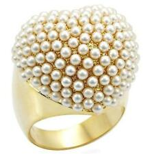 Unbranded Pearl Yellow Gold Round Costume Rings