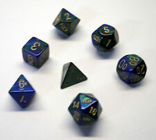 Dungeons & Dragons Fantasy 16mm 7 Piece Dice Set: Gemini Blue/Green  26436