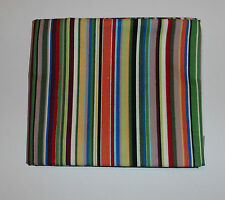 Fabric fat quarter in bright multicoloured stripes